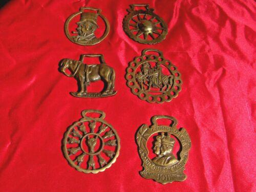 Brass Saddle Medallions England