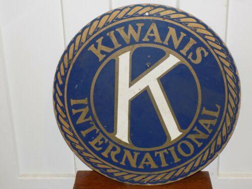Vintage  Kiwanis International Sign on Masonite Board