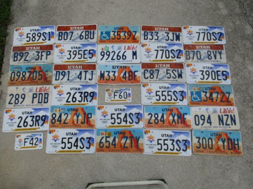 30 Utah  license plate lot for collecting or decorating