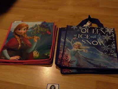 2 Disney Frozen Totes Halloween Gift Bag Party Favor Princess Anna & Queen Elsa