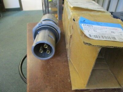 Crouse-hinds Explosion Proof Arktite Plug Apj-6375 60a 600v 3w 3p New Surplus