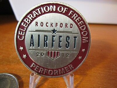2012 Rockford AIRFEST Performer Illinois Air Show Participant Challenge Coin
