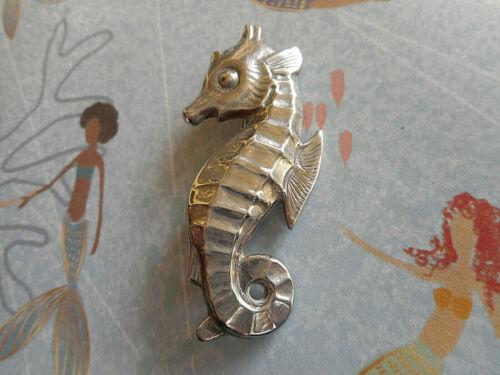 Vintage Sterling Silver Signed Christgau Denmark Seahorse Brooch Pin  4550MR