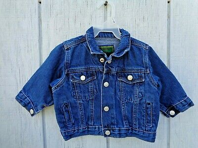 Classic Baby Gap Denim Jean Jacket Coat Sweater Tee Boys Clothes size M 6-12m 12