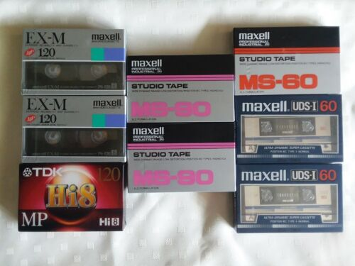 8 mm Cassette Tapes