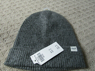 NWT   Abercrombie mens/  womens Hat Beanie gray