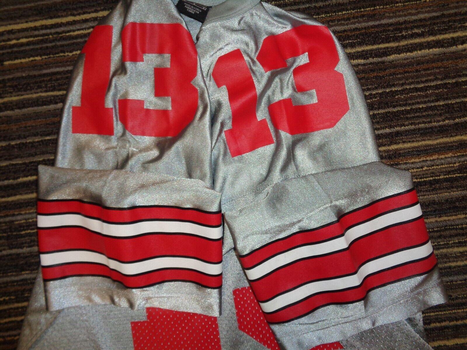 MAURICE CLARETT OHIO STATE BUCKEYES NIKE NCAA COLLEGE SILVER GRAY GAME JERSEY LG - $79.99