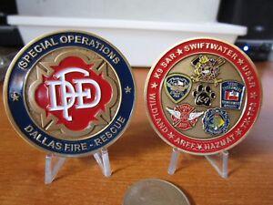 Dallas Fire Department Special Operations K9 SAR HAZMAT ARFF FDD Challenge Coin