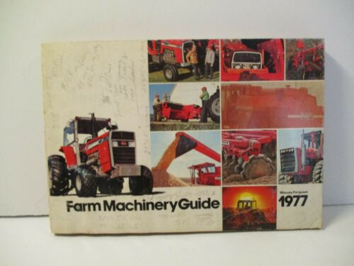 1977 MASSEY FERGUSON FARM MACHINERY GUIDE