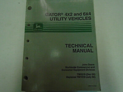John Deere Gator 4x2 6x4 Utility Vehicles Technical Service Repair Manual New