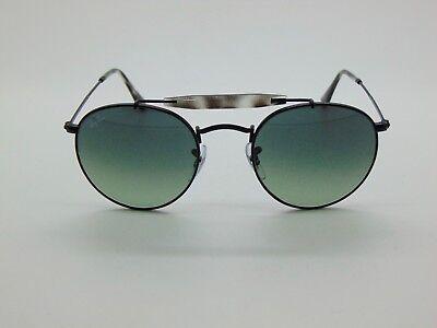 706d19ece7 New Ray Ban RB 3747 153 71 Matte Black Grey Gradient Round 50mm Sunglasses
