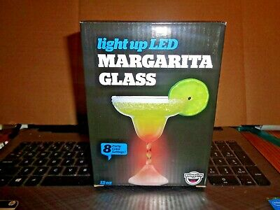 Light Up LED Margarita Cocktail Glass by Big Mouth Plastic 12 oz Party Supplies - Led Margarita Glasses