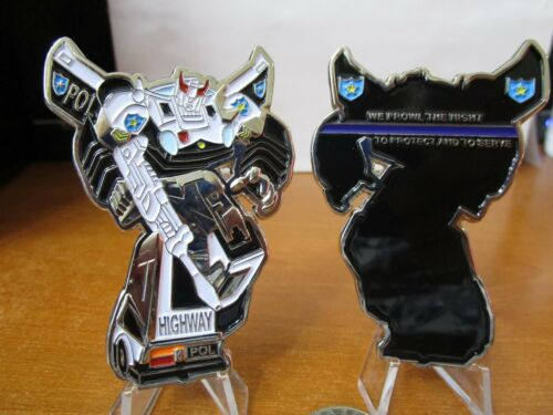Transformers Bluestreak TBL Thin Blue Line HP Police LEO Challenge Coin