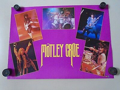 Motley Crue / Original Vintage poster - Size altered / exc. new cond. / 16x22""