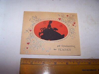 Vintage Teacher VALENTINE Silhouette - USA