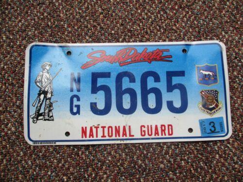 Sourth Dakota National Guard license plate #  5665