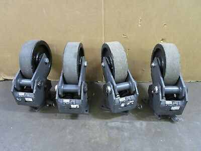 R.t. Laird C1296-l 2000lbs 10 Shock Absorbing Swivel Casters Lot Of 4