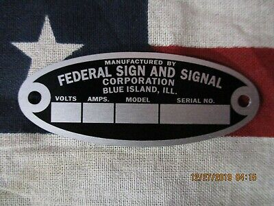 Federal Sign And Signal Replacement Badge Model 28 Eg Ep V Vl Vg O Sirens