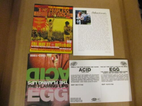 FLAMING LIPS Detroit Show Flyer + Two US Promo Postcards