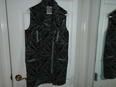 Calvin Klein Performance Gray Animal Print Fleece Vest Size Small New With Tags Printed Performance Fleece