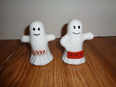 Halloween Ghost Salt and Pepper Shakers 4'' TALL