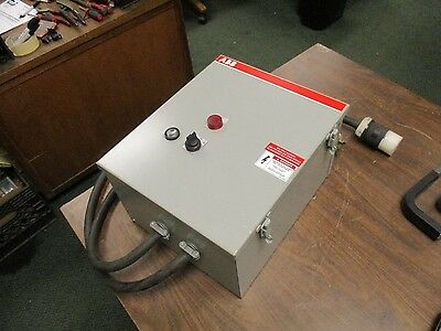 Abb Enclosed Starter A5053-84dh 208v Coil 60hz 3ph 52a Used