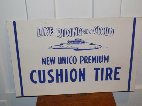 Vintage Unico Tire Cardboard Advertisement