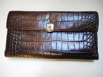 Ralph Lauren Genuine Alligator Wallet with Silver Clasp