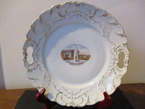 Circa 1910 Souvenir Porcelain Cake Plate Artesian Well Roswell New Mexico #