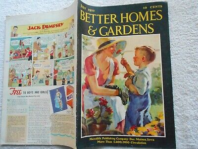 BETTER HOMES & GARDENS Magazine-JULY,1933-GRIFFITH COVER