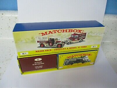 "Matchbox Yesteryear Code 2 M-1 Set- SF38 & Y-13 Crossley with ""MICA XI"", boxed"
