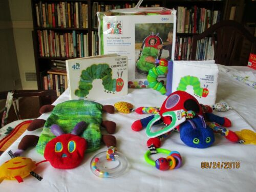 Eric Carle Infant  carrier bunting,3 rattles ,boardbook,