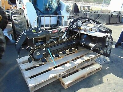 New 2021 Bradco 625 Skid Steer Trencher Attachment - Universal Fitment