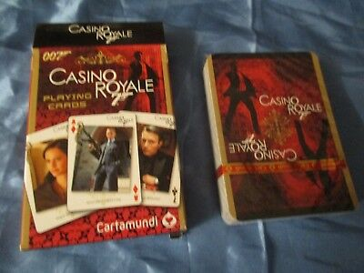 g Cards , James Bond - Motiv - Blatt , Casino Royale , ovp. (Casino Royale Spielkarten)