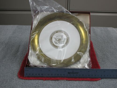 "United States Congress 8"" Plate center porcelain and outside brass"