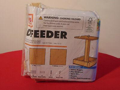 HOME DEPOT BIRD FEEDER BUILD AND GROW WOODEN KIT   Home Depot Bird Feeders