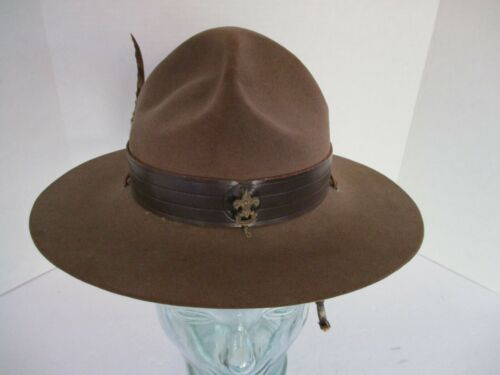 Hat, Vintage Stetson Boy Scouts of America Scout Master Perfect Oval, Size 6 7/8