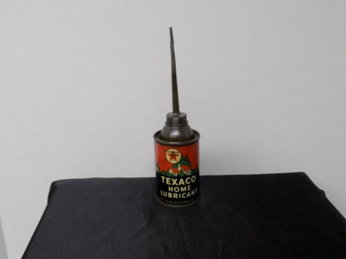 VINTAGE TEXACO 3 OZ. HOME LUBRICANT OIL CONTAINER