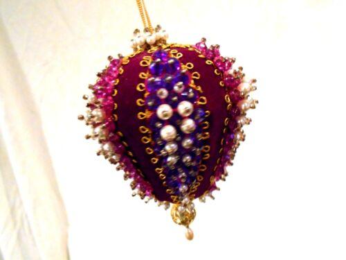 Vintage Handmade Christmas Ornament-Purple