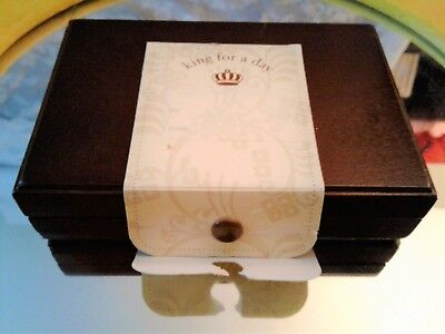 Decorative Collectible King for a day Brand dark wood Small Case box