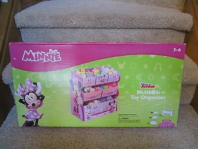Minnie Mouse Toy Organizer Storage Multi Bin Children Room Furniture Box Cubby (Multi Bin Toy Organizer)