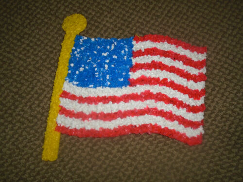 Vintage Melted Plastic Popcorn American Flag Fourth of July/