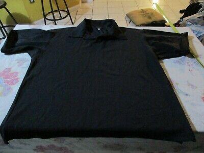 Versus by Versace Black Polo Shirt Size 36 Black Sparkle