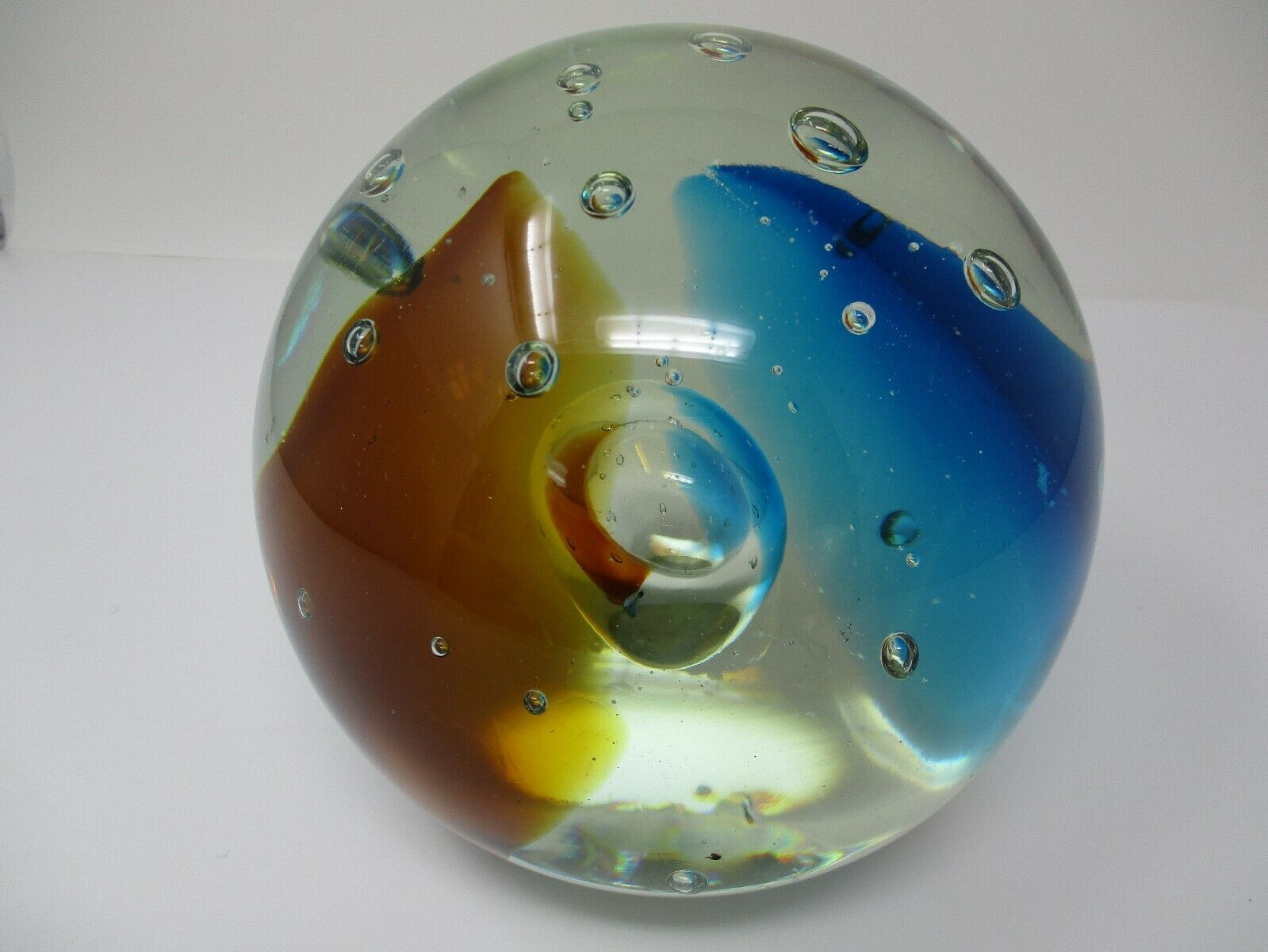 Hand-Blown Large Art Glass Bubbles Decorative Orb Ball
