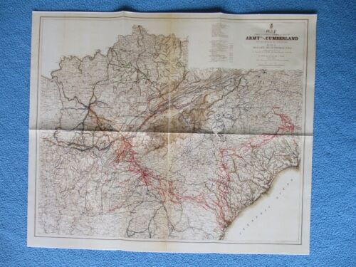 #  Civil War Map - General Thomas & Army of the Cumberland Operations