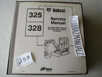 Bobcat 325 328 Excavator Service Manual