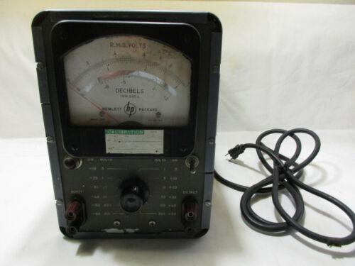 1957 HP 400H Vacuum Tube RMS Voltmeter / DB Meter, HP112-66, Model 1051