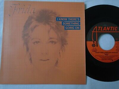 FRIDA OF ABBA - I KNOW THERE'S SOMETHING GOING ON / THRENODY CUSTOM SLEEVE VG+