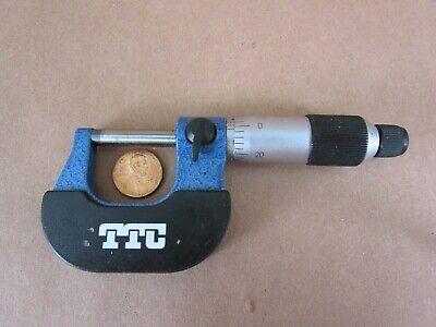 0.001 Graduation Brown /& Sharpe 599-220-2 Outside Blade Micrometer +//-0.004mm Accuracy 1-2 Range
