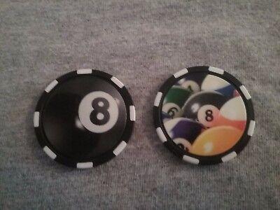 Pocket Marker Chip - 8-Ball Pool Table 8 Ball Pocket Marker
